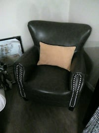 black and white fabric sofa chair Sherwood Park, T8B