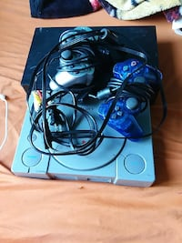 Sony PS1 game console and game controllers