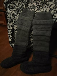 Ombre black and gray knit boots Oklahoma City, 73109