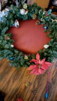 green and red Christmas wreath Los Angeles, 91343