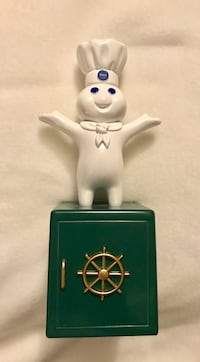 Pillsbury Giggling Doughboy Battery Operated Metal Safe Bank. Houston, 77099