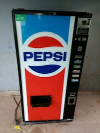 red and white Pepsi vending machine Midwest City, 73130