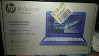 11 inches blue HP Notebook box