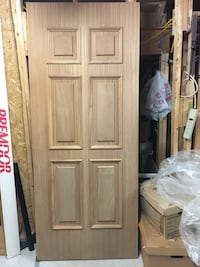 Heavy duty,  oak wood door with brass plate for outdoor entrance Toronto, M1P 3A6