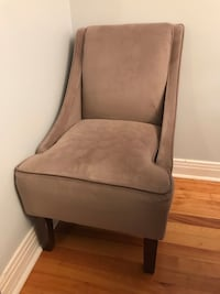 brown wooden framed gray padded armchair Pointe-Claire, H9R 1Y2