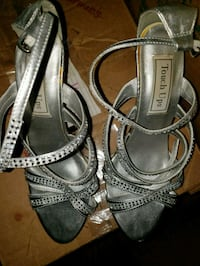 Gray heels 7.5/8 worn once  Frederick