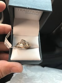 silver-colored ring with clear gemstones Houston, 77016