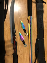 Two swords and two throwing knifes!! Very sharp Kitchener, N2E 3B8