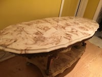 White and brown marble table  Brampton, L6P 1G5
