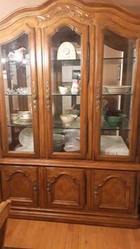 Dining room table, hutch, and four chairs.  Poughkeepsie, 12601