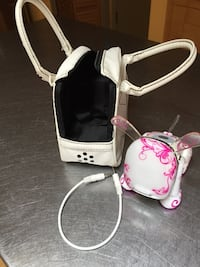 White-and-pink floral  idog 49 mi