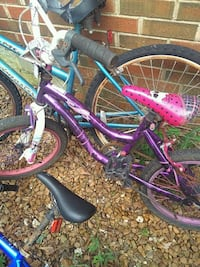 purple and black city bike Loxley, 36551