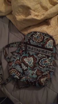 black, blue, and brown floral backpack Mount Healthy, 45231