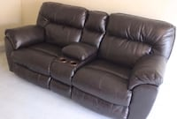 black leather 3-seat recliner sofa Springfield, 22150