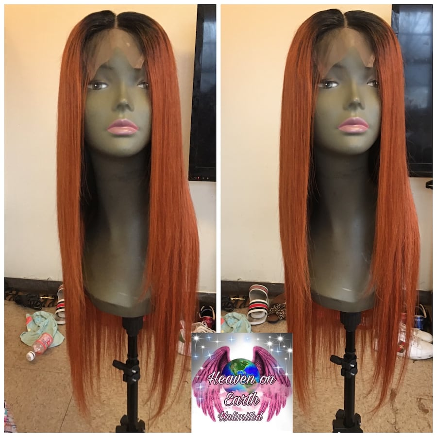 """26"""" virgin hair 1b/350 lace front wig $350"""