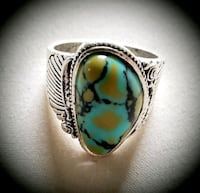 Green Turquoise 925 Silver Ring Gainesville, 20155