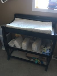 black wooden 3-layer changing table Calgary, T3M
