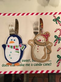2 Cute Cloth utensil Holders for your table Houston, 77063