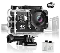 Brand New Seal In Box 4K Action Camera 16MP Waterproof Camera 170 Wide Angle Sport Underwater Camera Super Tiny Lightweight GoPro Style Digital Camera With 2x1350 mAh Batteries Hayward, 94544