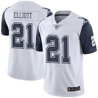 NIKE NFL DALLAS COWBOYS FOOTBALL JERSEY IN WHITE NAVY