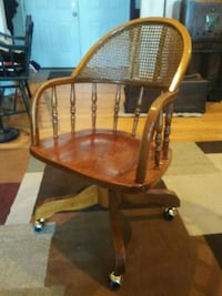 brown wooden windsor rocking chair Partlow, 22534