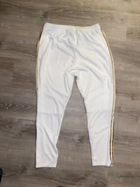 Gold and white Pants by Adidas  Middletown, 02842
