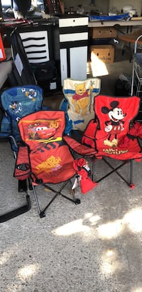 two red and blue Minnie Mouse camping chairs Toronto, M1V 2L7