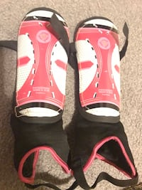 white-and-pink Hisston soccer shin guards Calgary, T3J 4A6