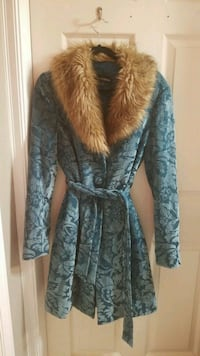 Gorgeous blue faux fur knee length coat Anmore, V3H 5G6
