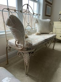 Decorative Wrought Iron Bench/Love Seat