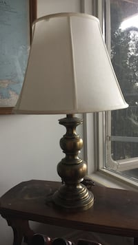 2 Solid brass with silk shades