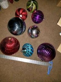 Huge multicolored decorations