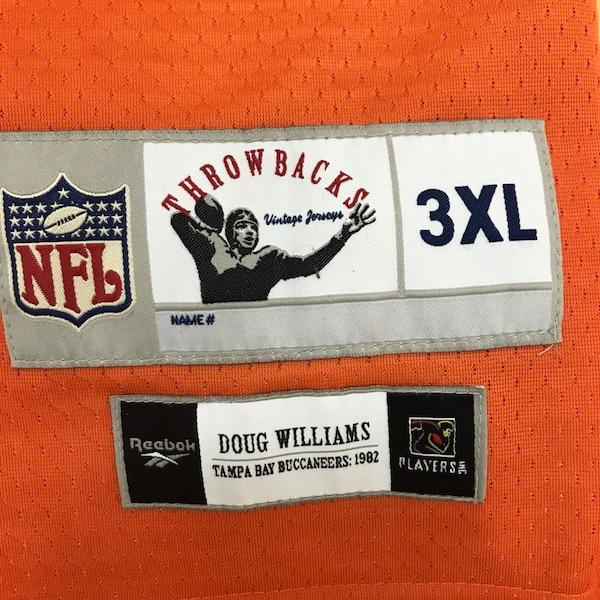 Doug Williams Tampa Bay Buccaneers Throwback Reebok Jersey 79aac45a-29e5-4b8f-acef-9c3015439068