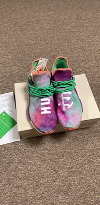 pair of pink-and-green Nike running shoes Sterling, 20166