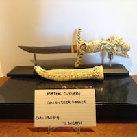 Beautiful decorated collectible dagger