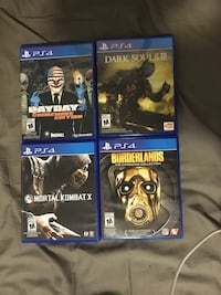 Four sony ps4 games 15$ each hit me up for offers  Lethbridge, T1H 4N4