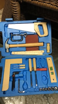 blue and red metal tool set 244 mi