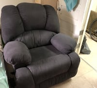 Gray fabric recliner sofa chair Toronto, M4K