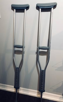 For Sale: Adult Sized Aluminum Crutches $20