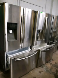 STAINLESS STEEL FRENCH DOORS FRIDGES WORKING PERFECTLY $499.00 & up