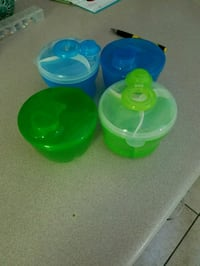 green, blue, and yellow plastic containers Jacksonville, 28540