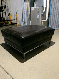Leather ottoman Canfield, 44406