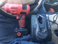 red cordless impact wrench
