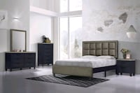 Black-Gold Queen Bedroom Set Columbia, 21046