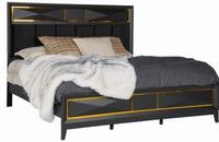 No credit needed queen-size ebony matte black bed frame only College Park