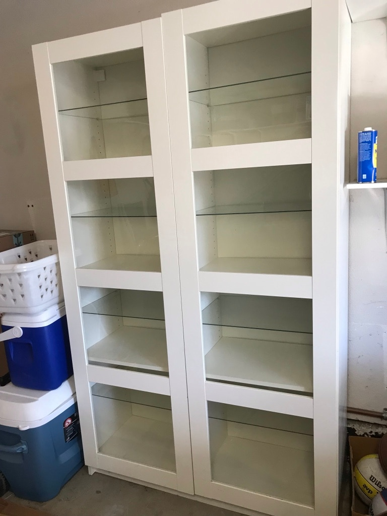 used ikea bergsbo white cabinet with glass doors for sale in rh gb letgo com