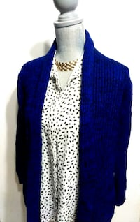 $15 (NEW) Vibrant Cobalt Blue Cardigan (Fixed Price) Toronto