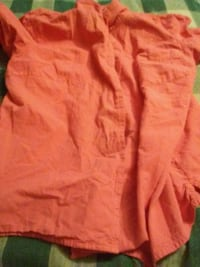 orange button-up shirt Gobles, 49055