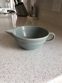 Bauer White and gray ceramic bowl San Diego, 92122