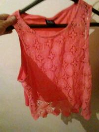 red lace sleeveless top Moss Point, 39562